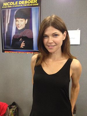 Nicole de Boer - De Boer at 2015 London Film and Comic Con