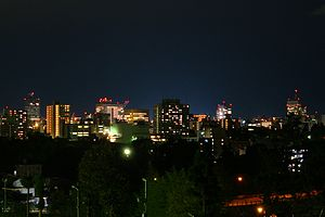 Night View of Sendai City, Japan