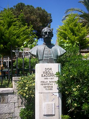 Nikollë Kaçorri - Bust of Dom Nikollë Kaçorri, the Vice Prime minister of the Provisional Government of Albania in Durrës.