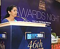 Nirmala Sitharaman addressing at the presentation ceremony of the EEPC India's 46th Annual Awards for Exports Excellence, in New Delhi on September 03, 2015.jpg