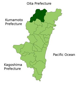 Nishiusuki District, Miyazaki - Nishiusuki District in Miyazaki Prefecture