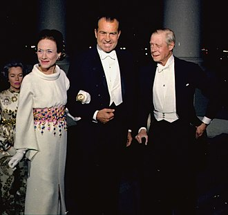 Timeline of the Richard Nixon presidency - Nixon and the Duchess and Duke of Windsor, April 4, 1970