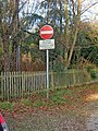 No access to bypass sign - geograph.org.uk - 1093593.jpg