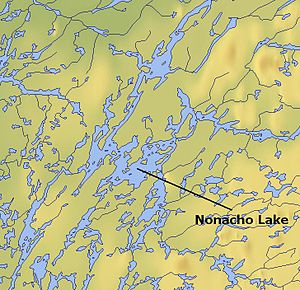 Nonacho Lake - Map