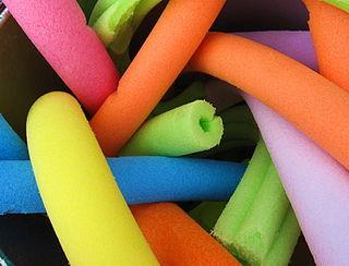 cylindrical piece of buoyant polyethylene foam, sometimes hollow