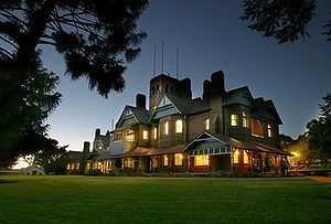 University of New England (Australia) - Boolominbah Homestead at night
