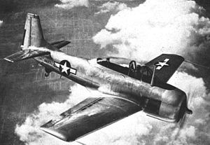 North American XSN2J - Image: North American XSN2J 1 in flight 1947