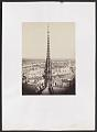 Notre Dame, Paris, France. View of spire, roof with statuary, and cityscape beyond - Library of Congress.tif