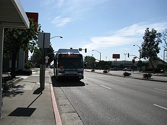 Orange County Transportation Authority - Image: OCTA Bus Stop 01
