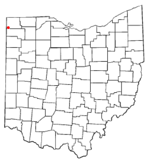 Edgerton, Ohio - Image: OH Map doton Edgerton