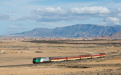 ONCF class DF 115 (former SNCF 72000) with the afternoon train from Taourirt to Nador, Morocco.