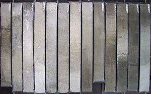 Marine isotope stage - Marine core sections from the South Atlantic, about a million years old