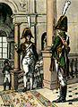 Officier et soldat des gardes du corps de l'Empereur, 1813.jpg