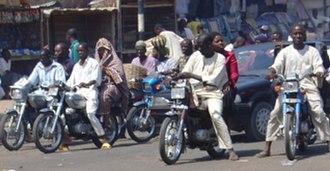 Okada (motorcycle taxi) - Okadas in Kano, Nigeria