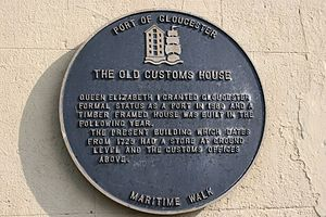 Henry Allen (Mayor of Gloucester) - The old customs house, Gloucester, England. Previously owned by Henry Allen and lived in by his family