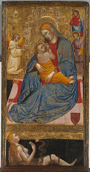 Olivuccio di Ciccarello - The Madonna of Humility with the Temptation of Eve