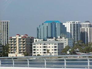 Sarasota County, Florida - Downtown Sarasota, the county seat, from the John Ringling Causeway Bridge