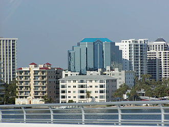 Sarasota County, Florida - Downtown Sarasota, the county seat, from the John Ringling Causeway Bridge