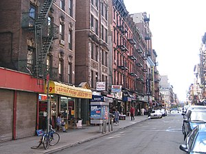 The corner of Orchard and Rivington streets, Lower East Side (2005)