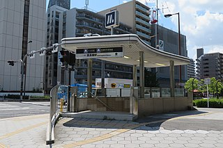 Nishi-Nagahori Station Metro station in Osaka, Japan