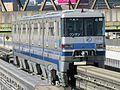 Osaka Monorail 1102 at Minami-Ibaraki Station.JPG