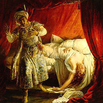 Otello - Otello and Desdemona by Alexandre-Marie Colin, 1829
