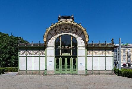 Otto-Wagner-pavilion in Vienna, Austria