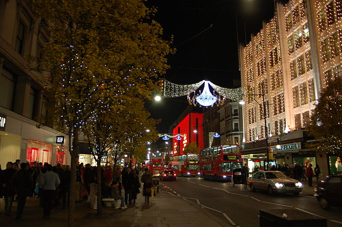 Christmas Light Up at Oxford Street, London