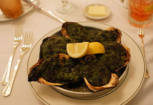 Oysters Rockefeller as served at Galatoires of...