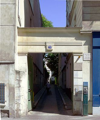 Valery Larbaud - Rue Cardinal-Lemoine n°71, where he lived from 1919 to 1937