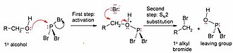 Phosphorus tribromide - Image: P Br 3 alcohol rxn
