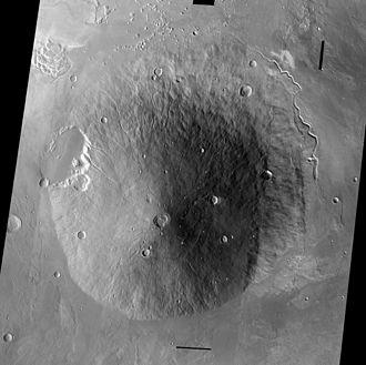 Elysium (volcanic province) - Image: PIA06827 Hecates Tholus