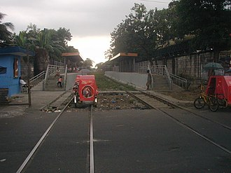 10th Avenue railway station - The railway station before being altered due to the construction of the NLEX Segment 10.1. It was idle and abandoned until activation on August 1, 2018.