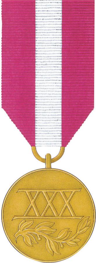 Medal for Long Service - Image: POL Medal Za Dlugoletnia Sluzbe zloty rewers