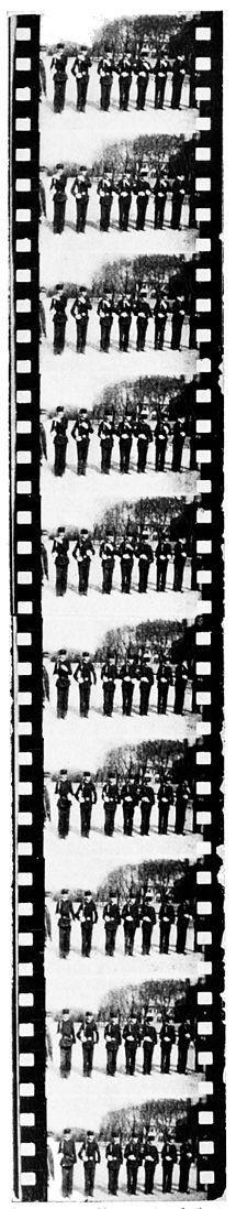 PSM V52 D192 Section of film of soldiers at drill.jpg