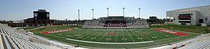 Provost Umphrey Stadium - Image: PU Stadium Pan From Away Side