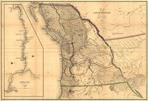 "Pacific Northwest - US Navy Admiral Charles Wilkes' 1841 Map of the Oregon Territory from ""Narrative of the United States Exploring Expedition.""  Philadelphia: 1845"