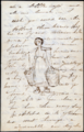 "Page from a letter postmarked July 2, 1888 to Anna's parents, includes a sketch for later oil painting ""Dutch Milk Maid"".png"