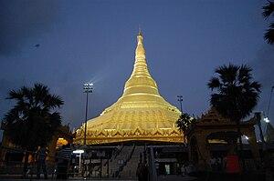 Global Vipassana Pagoda - Night View of Pagoda Main Entrance