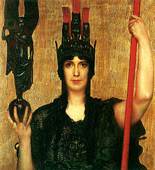 Pallas Athena by Franz von Stuck