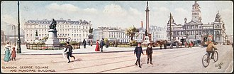 George Square - Panorama postcard showing the square as of 1905