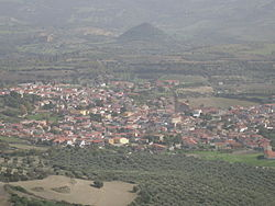 Panorama of Gesturi from Chiara.