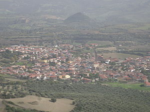 Gesturi - Panorama of Gesturi from Chiara.