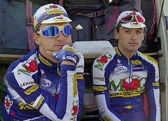 MG Maglificio (cycling team) - Paolo Bettini and Michele Bartoli at the 1997 Paris–Tours