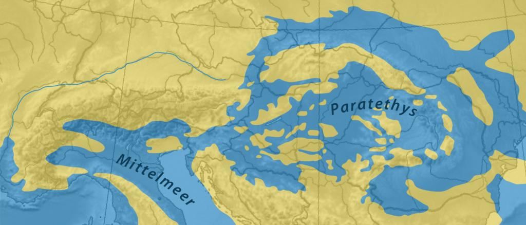 Paratethys vor 17-13 Mio Jahren