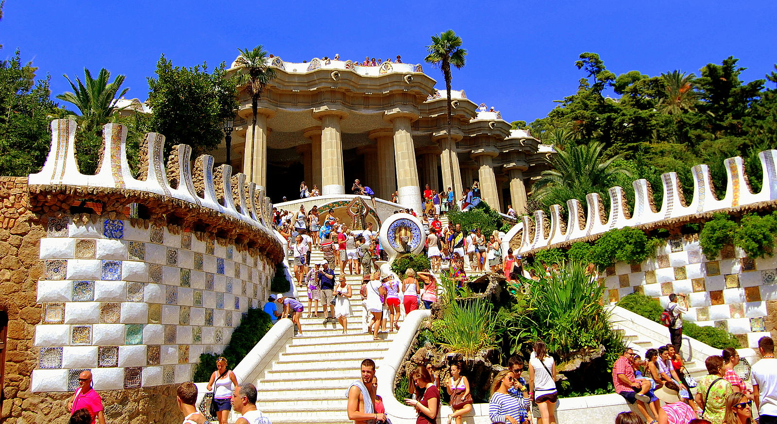 A visit to Park Guell is one of the best things to do in Barcelona