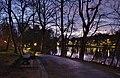 Parc Tenreuken looking South from the West side during the sunset civil twilight, Auderghem, Belgium (DSCF3741-to-DSCF3743-b1).jpg