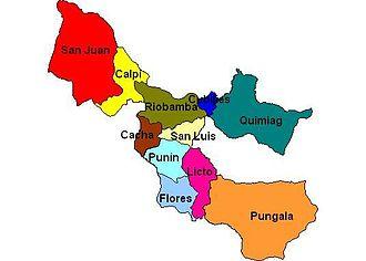 Riobamba Canton - Image: Parroquias del Cantón Riobamba