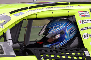 NASCAR driver Paul Menard at Texas Motor Speedway
