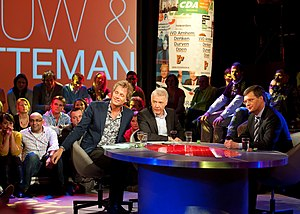 Pauw & Witteman - Left to right: Jeroen Pauw, Paul Witteman and guest Jan-Peter Balkenende